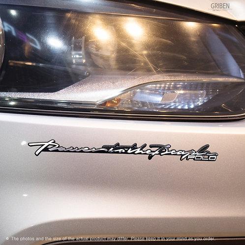 Griben Car Slogan Emblem Metal Chrome Slim Badge 70288 for Volkswagen Polo