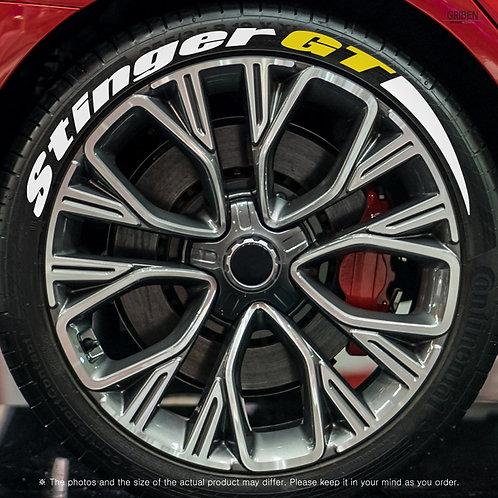 GRIBEN Tire Lettering Sticker Stinger GT