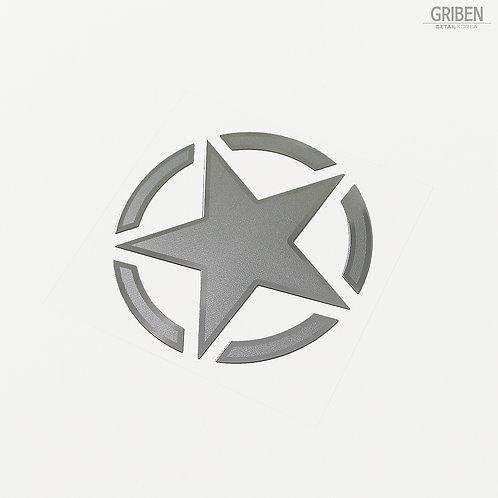 Griben Star Metal Sticker Pair Decal 60194M