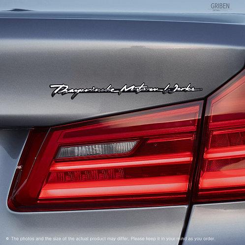 Griben Car Emblem Metal Car Full Name Chrome Slim Small Badge 70305 for BMW