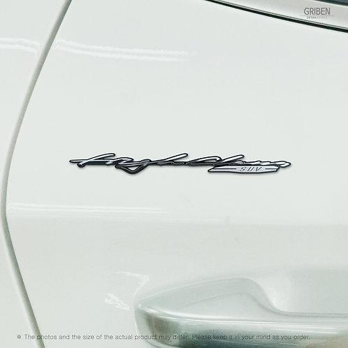 Griben 70362 Car Slogan Handwriting Emblem Metal Chrome Badge for Seltos