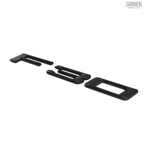 Griben F30 Code Name 3D Emblem Rough Matte Black Badge S003 for 3 Series