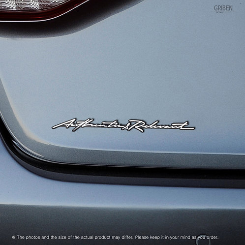 Griben Car Emblem Handwriting Metal Chrome Badge 70336 for Genesis G80