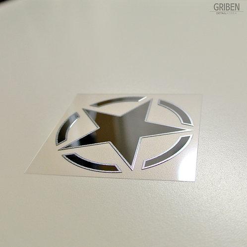 Griben Star Metal Sticker Pair Decal 60194MC