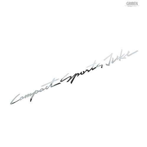 Griben Car Slogan Chrome Metal Sticker Pair 60304 Handwriting Lettering