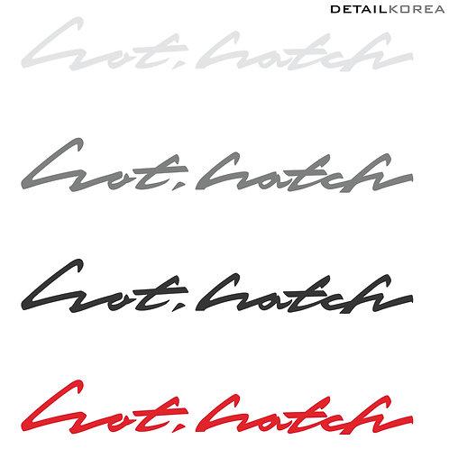 Detailkorea Car Slogan Decal Lettering Sticker for i30 or Hatch Back All Cars