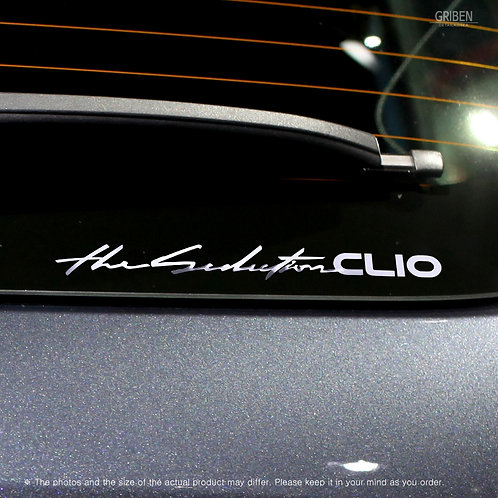 Griben Car Slogan Chrome Metal Sticker Pair 60284 for Renault CLIO