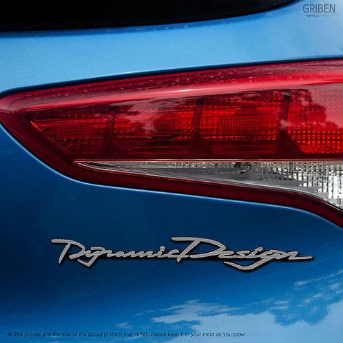 Griben Car Slogan Emblem Sliver Badge 30248 for Hyundai Tucson