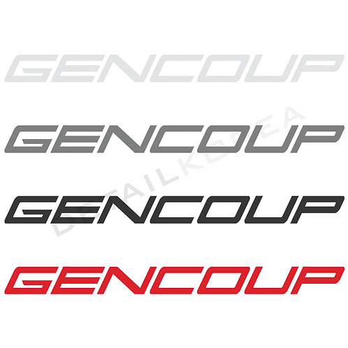 Car Slogan Decal Lettering Sticker B-Type for Genesis Coupe