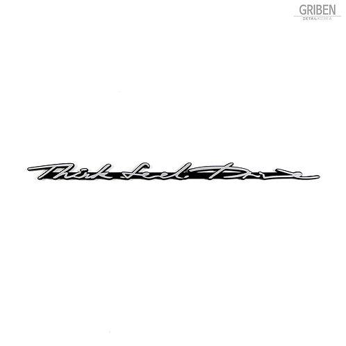 Griben Car Emblem 30163 Slogan Silver Badge
