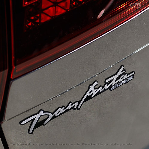 Griben Car Emblem Handwriting Metal Matte Chrome Badge 70321 for Volkswagen