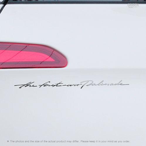 Griben Car Slogan Chrome Metal Sticker Pair 60340 for Hyundai Palisade