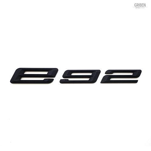 Griben E92 Code Name 3D Emblem Rough Matte Black Badge S010 for 3 Series