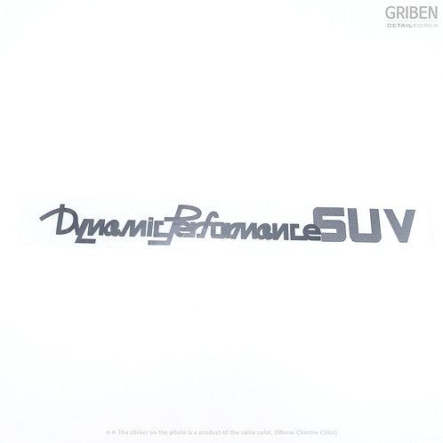 Griben Car Slogan Metal Pair Sticker Decal 60080 for Hyundai Tucson