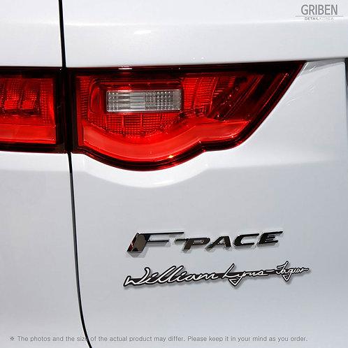 Griben Car Emblem Silver Sheet Acrylic Badge 30178A Founder Name for Jaguar