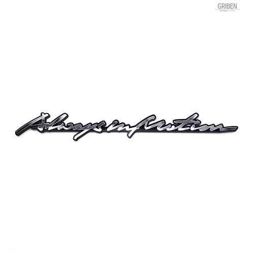 Griben Car Emblem Handwriting Metal Chrome Badge 70312 for i30, Elantra GT