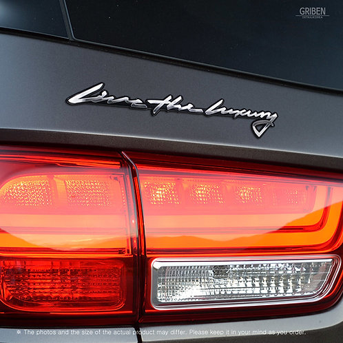 Griben Car Emblem Handwriting Metal Chrome Badge 70330 for Kia Sedona