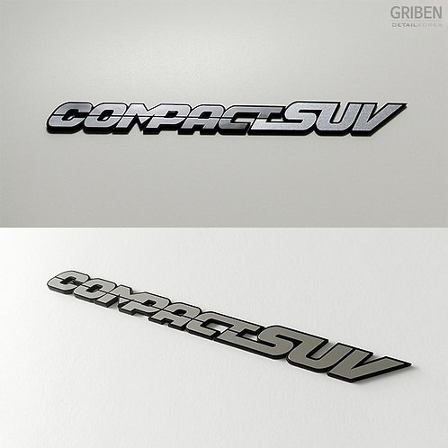 Griben Car Metal Chrome Emblem 70058 for Ssangyong XLV, Tivoli, Air