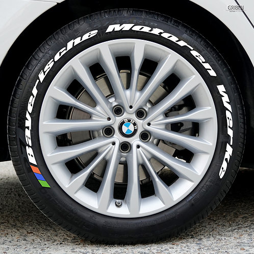 GRIBEN Tire Lettering Sticker Full Name (Fit : BMW) TR033