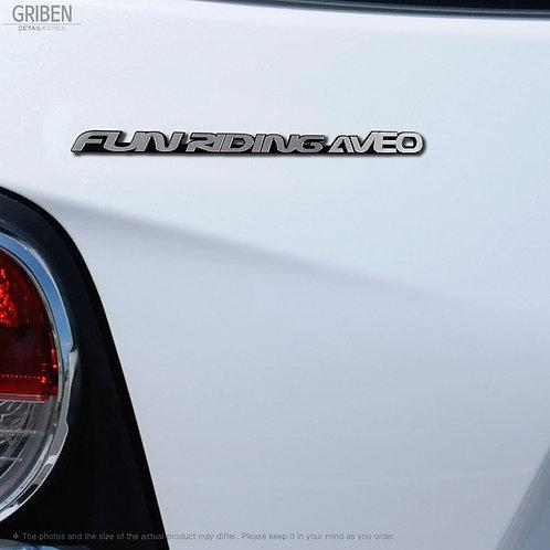 Griben Car Emblem Metal Chrome Badge 70132 for Chevrolet Aveo