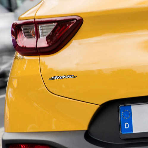 Griben Car Emblem Metal Sticker Chrome Small Badge Pair 70236 for Kia STONIC