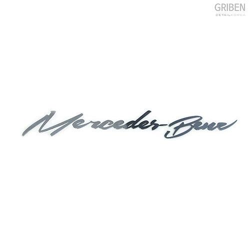 Griben Car Name Metal Sticker Pair Decal Chrome 60059 Merc