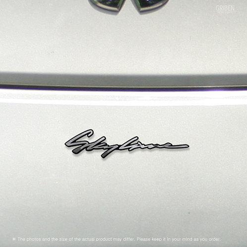 Griben Car Emblem 70349 Metal Chrome Badge for Skyline, V35
