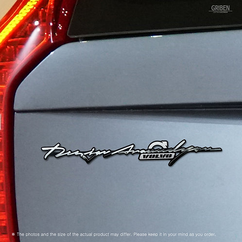 Griben 70378 Car Slogan Handwriting Emblem Metal Chrome Badge