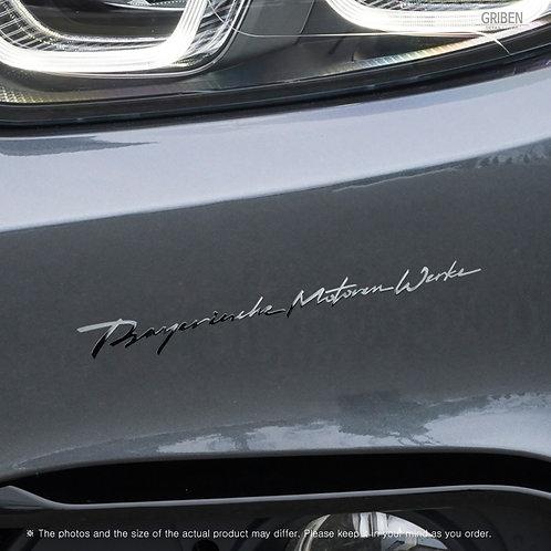 Griben Car Full Name Chrome Metal Sticker Pair 60305 for BMW