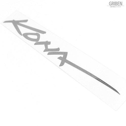 Griben Car Name Matte Chrome Metal Sticker Pair 60241 for Hyundai KONA
