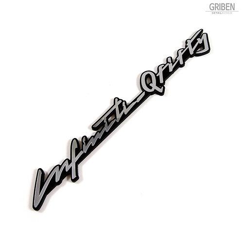 Griben Car Emblem Metal Sticker Badge Silver Chrome 70226 for Infiniti Q50