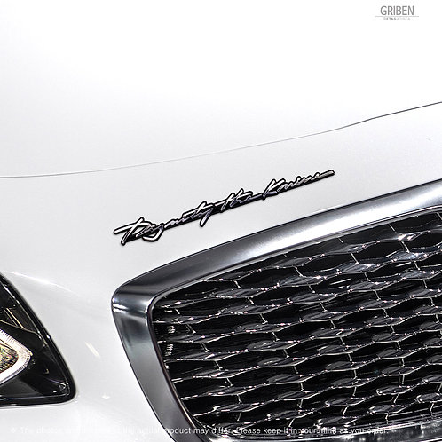 Griben Car Slogan Emblem Metal Chrome Slim Badge 70303 for Kia K900