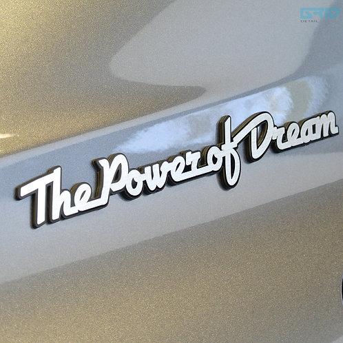 GRIBEN Car Lettering Slogan Emblem Badge 30081B