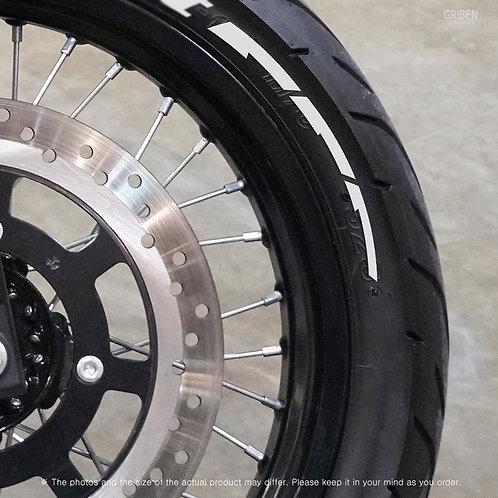 GRIBEN Tire Lettering Sticker Pattern line TR017C
