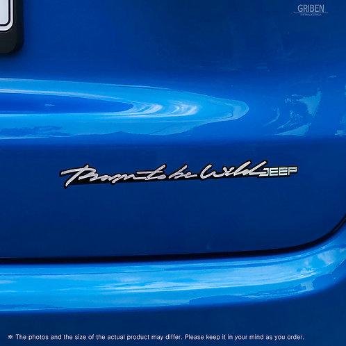Griben Car Slogan Emblem Sliver Slim Badge 30302 for Jeep All Cars