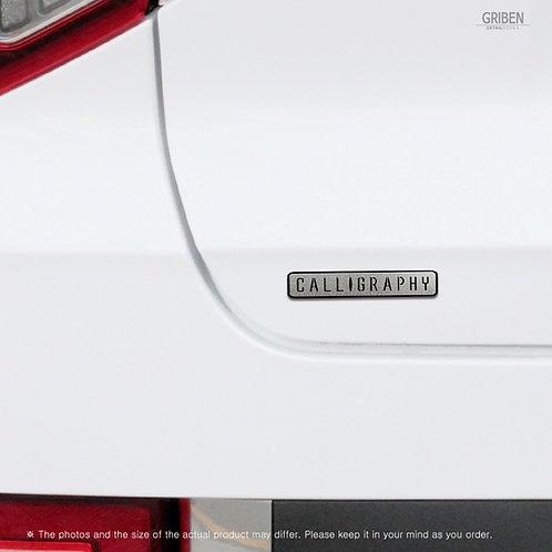 Griben Car Model Name Chrome Matte Metal Emblem Badge 70388
