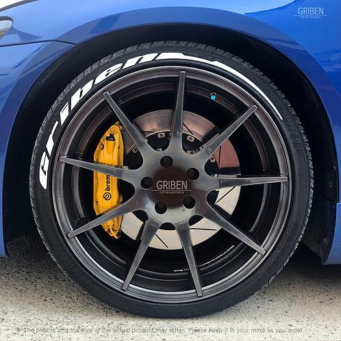 GRIBEN Car Tire Sticker Letters TR024B