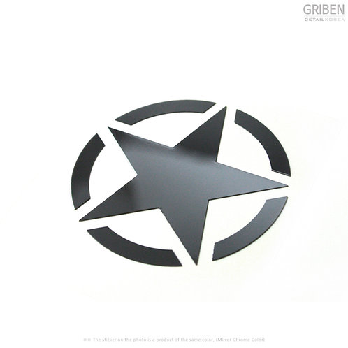 Griben Star Metal Chrome Pair Sticker Decal 60194 for All Cars