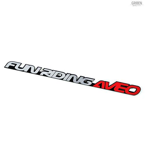 Griben Car Lettering Slogan Emblem Badge 30132 for Aveo