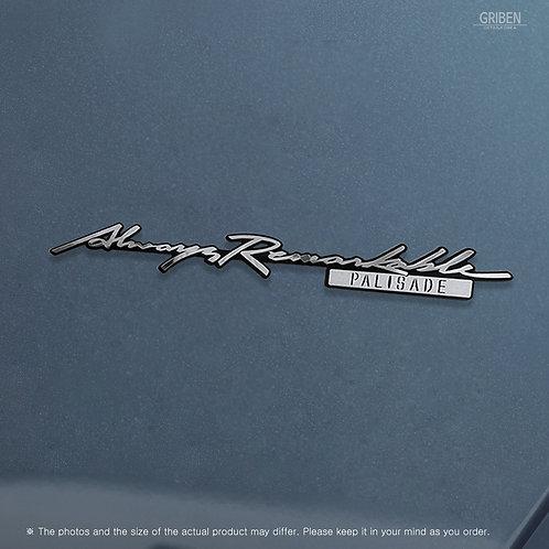 Griben Car Emblem Handwriting Metal Chrome Badge 70341 for Hyundai Palisade