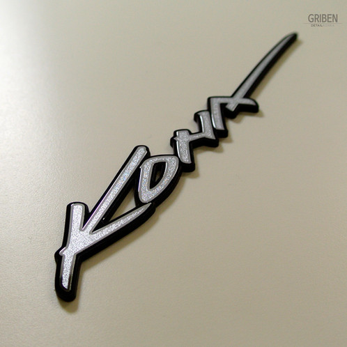 Griben Car Emblem Metal Sticker Matte Silver Badge 70241 For Hyundai