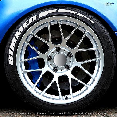 GRIBEN Tire Lettering Sticker BIMMER TR013