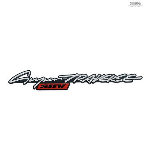 Griben Car Emblem Sliver Red Badge 30376 for TRAVERSE