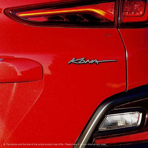 Griben Car Name Emblem Lettering Silver Badge 30240 for Hyundai Kona