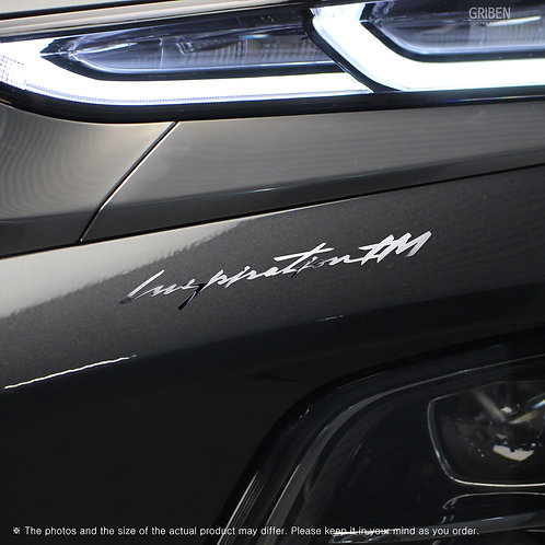 Griben Car Matte Chrome Metal Sticker Pair 60277 for Hyundai Santafe TM
