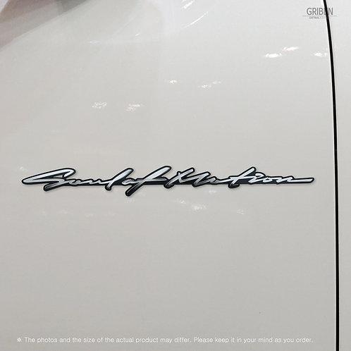Griben 70373 Car Slogan Handwriting Emblem Metal Chrome Badge for Mazda