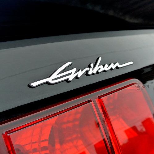 Griben Car Trunk Emblem Sliver Side Badge 30257 All Cars