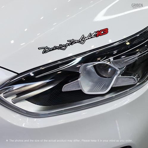 Griben Car Emblem Sliver Red Slogan Badge 30281 for Kia Forte or K3