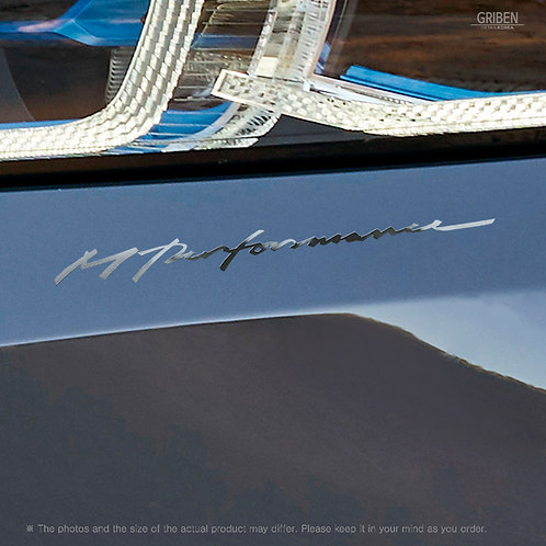 Griben Car Chrome Metal Sticker Pair 60356 Handwriting Lettering