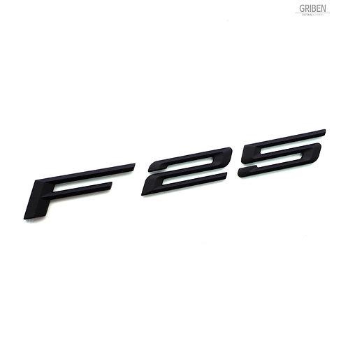 Griben F25 Code Name 3D Emblem Rough Matte Black Badge S007 for BMW X3